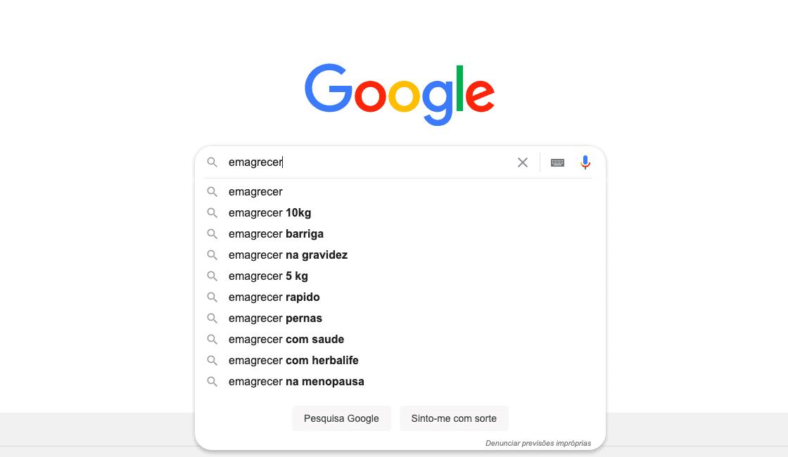 Pesquisas Relacionadas no Google ajudam a encontrar a palavra-chave certa