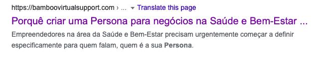 Meta Descrição no Google